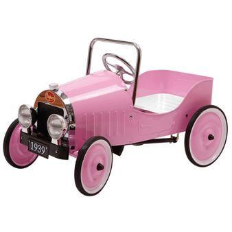 Den tjusiga pedalbilen Classic Pink för barn mellan 3 och 5 år kommer i en härligt rosa och feminin design som passar alla små flickor. Perfekt som en uppskattad och rolig överraskning för de små.
