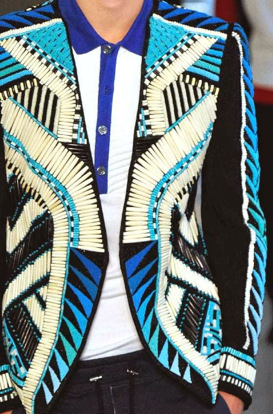 patternprints journal: PRINTS, PATTERNS AND DETAILS FROM RECENT PARIS FASHION WEEK (MENSWEAR SPRING/SUMMER 2015) / Balmain