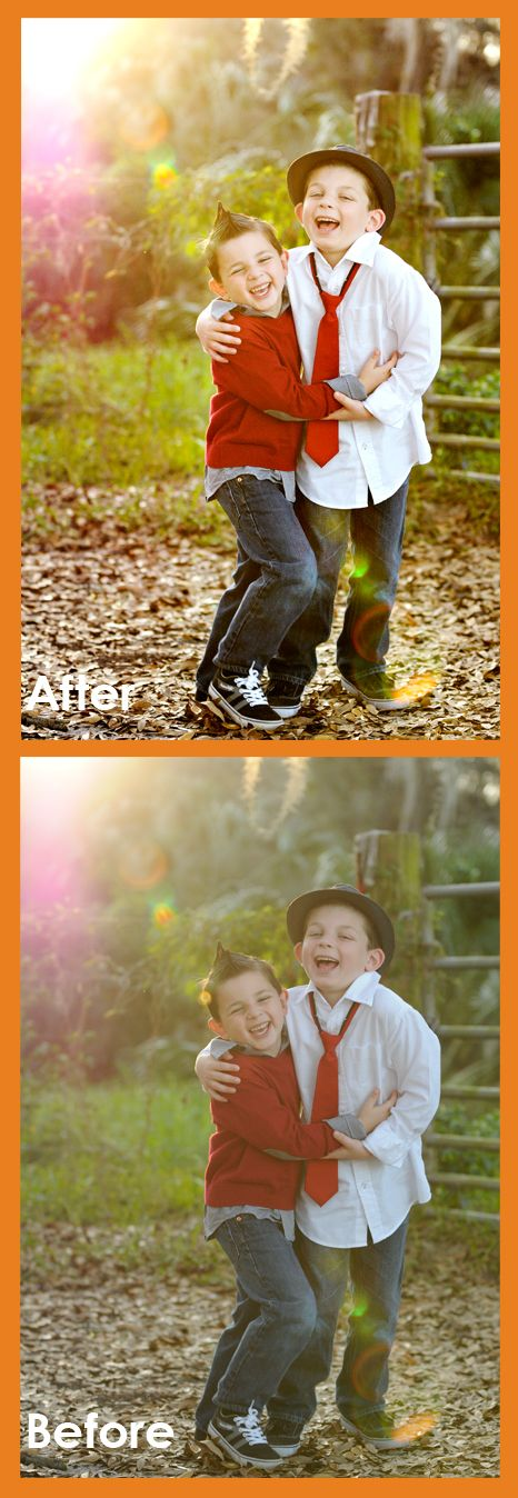 Take a photo from hazy to clear and colorful with these layers in Photoshop Elements.