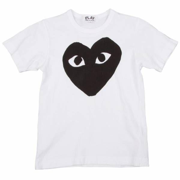 プレイ コムデギャルソンPLAY COMME des GARCONS ロゴプリントTシャツ 白SS  #COMMEdesGARCONS #CDG