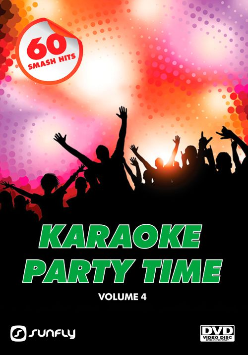 Sunfly Karaoke Party Time Volume 4 DVD with 60 popular hits to bring your party to life, collect the entire set as they don't have any repeats in the series