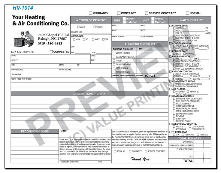 Plumbing Invoices Image Plumbing Work Order Invoice Windy City