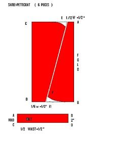 "SAREE -   PETTICOAT  (   6   PIECES  )      MEASUREMENTS    :----   HIP   =   36 ""   LENGTH   =  36 ""   OR   40 ""   WAIST    LOOSE  ..."