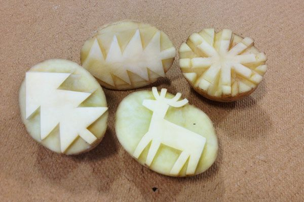 14 Fun & Creative Ideas using Potato Stamps                                                                                                                                                                                 More