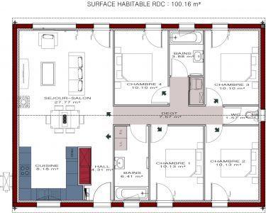 4 Chambre Plans De Maison De Plage Est Incroyable