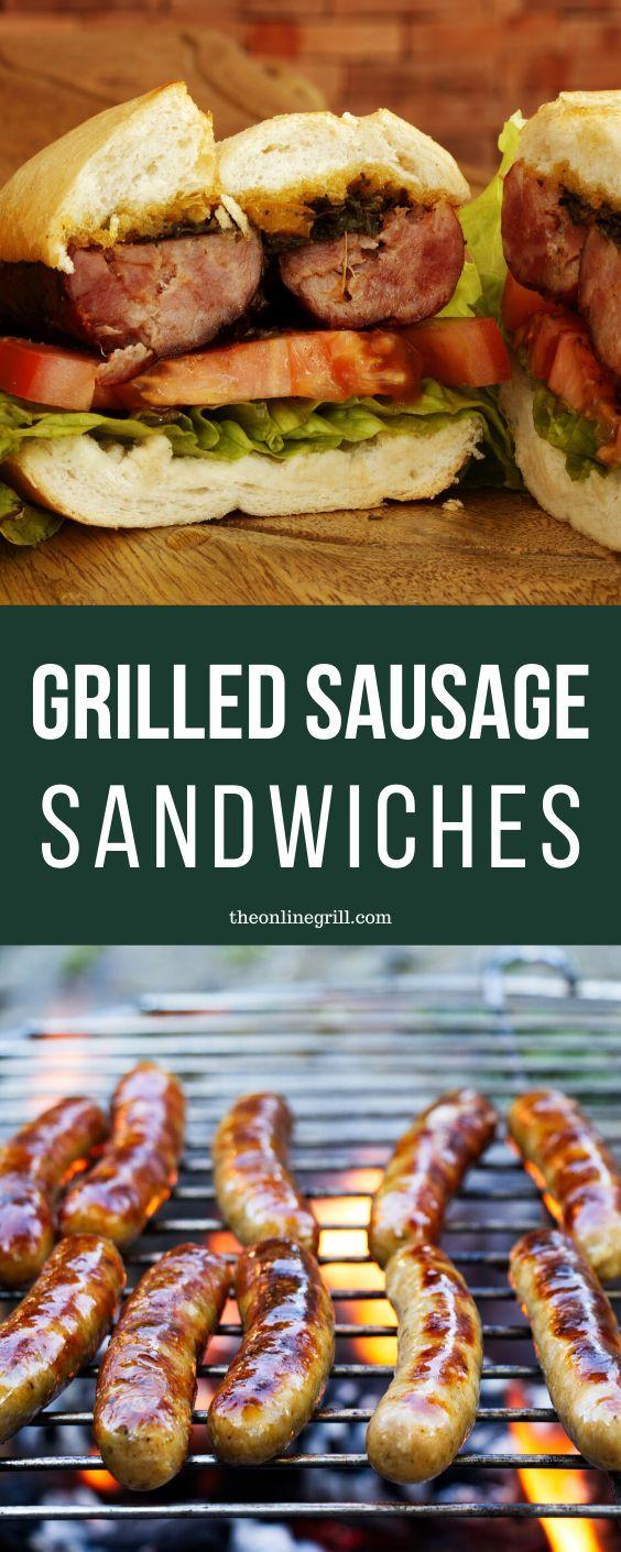 Grilled Sausage Sandwiches