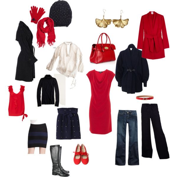 """Fantasy winter capsule wardrobe"" by suzyn on Polyvore"