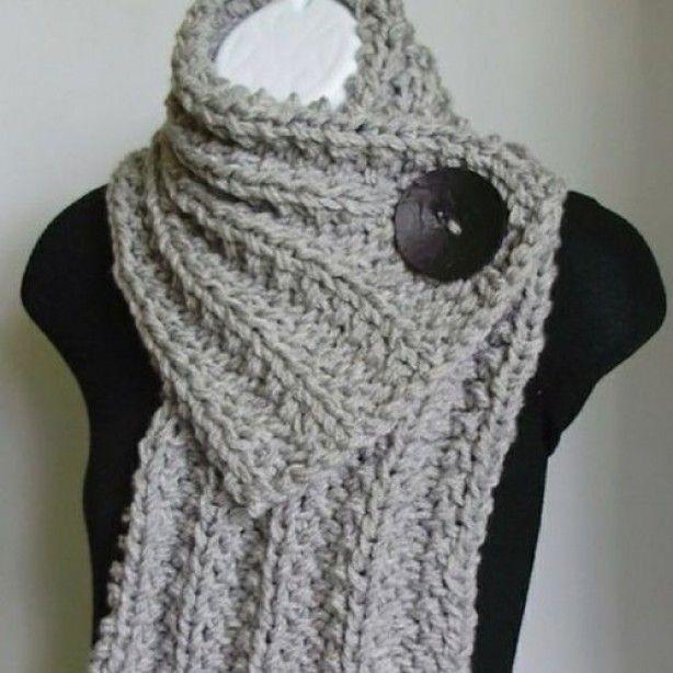 knoop sjaal / button scarf