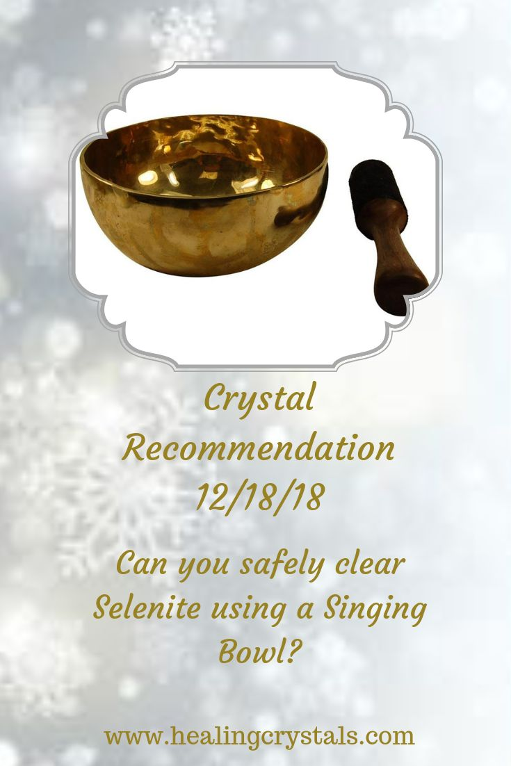 how to use a singing bowl to cleanse crystals
