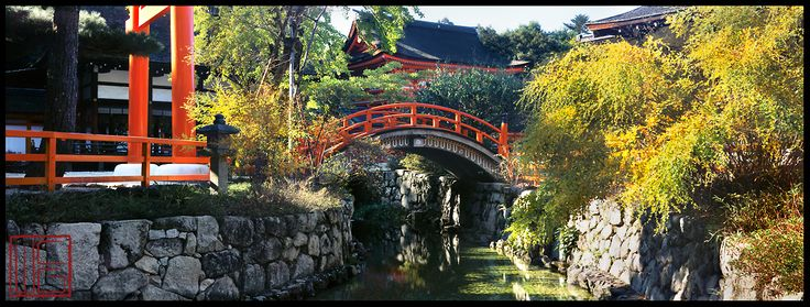 Shimogamo Shrine   Water and bridges represent the flow of time, the movements of arriving and departing, of coming into existence and passing out of it.