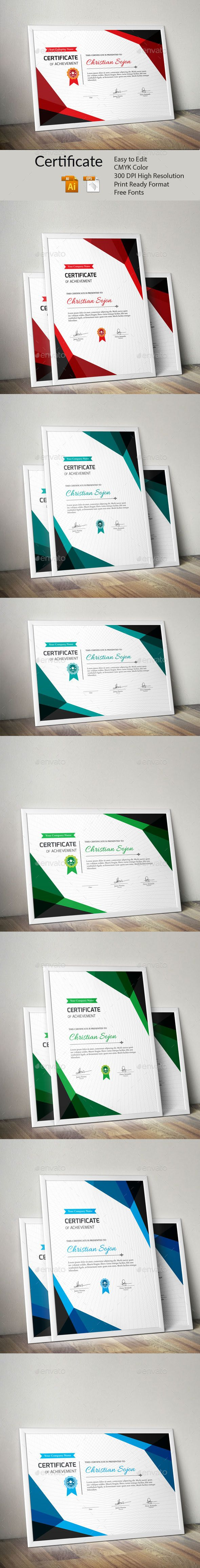 #Certificate - Certificates Stationery Download here: https://graphicriver.net/item/certificate/19707878?ref=alena994