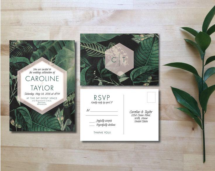 Printable Wedding Invitation Set Wedding by HeraPaperGoods