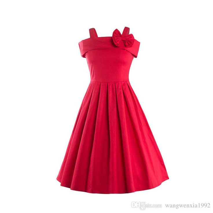2017 New Fashion Women Vintage 1950s 60s Retro Sexy Spaghetti Strap Bowknot Pleated Dress Casual Party Evening Hepburn Dresses Sleeveless Dress Women Vintage Hepburn Dresses Elegant Evening Dress Online with $25.09/Piece on Wangwenxia1992's Store | DHgate.com