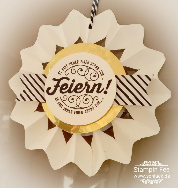stampin Punch board rosette s snowflake Medaillon decoration happy new year here´s to cheers silvester Dekoration rosette Anhänger nette Etiketten schneeflocke
