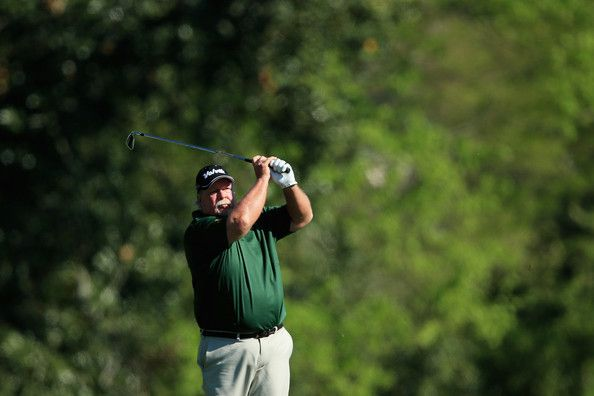Craig Stadler Photos Photos - Craig Stadler of the United States hits his second shot on the fifth hole during the first round of the 2014 Masters Tournament at Augusta National Golf Club on April 10, 2014 in Augusta, Georgia. - The Masters: Round 1