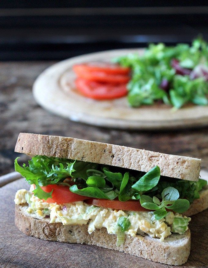 Vegan Tuna Mayo Sandwich | Veggie Desserts Blog  Vegan tuna mayo is easy to make, healthy and a great alternative to fish. The texture comes from mashed chickpeas so it's a nutritious sandwich filling with loads of fantastic flavours.