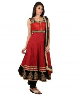 Organic Wine Red  Cotton Salwar Suit