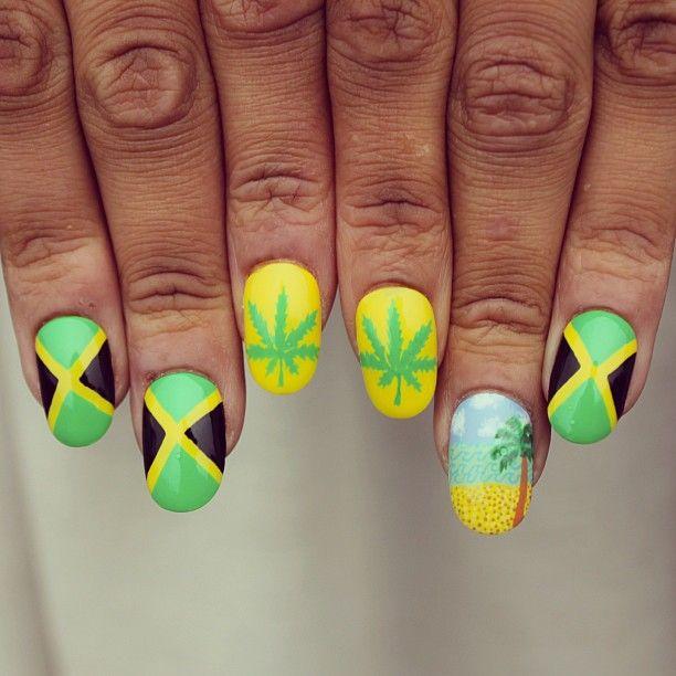 JAMAICA by boomnailsldn #nail #nails #nailart