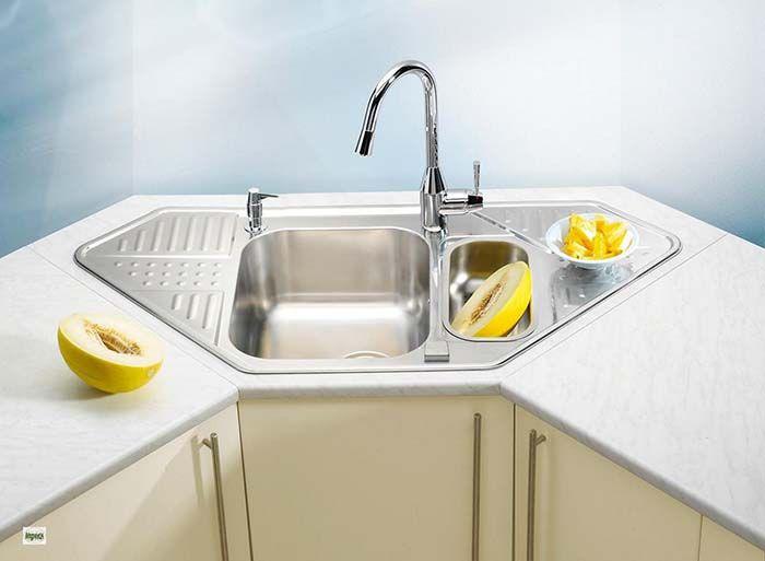 20 Best Corner Kitchen Sink Designs For 2021 Pros Cons Decor Home Ideas Mutfak Evler Fikirler