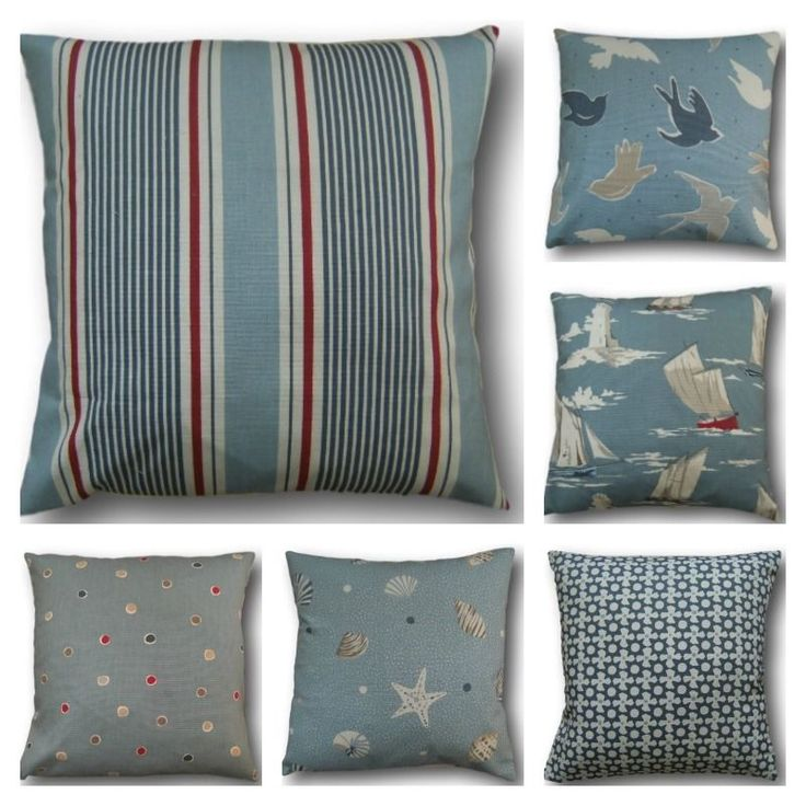 Clarke & Clarke's Mix Match Blue Red Cushion Cover Choose size/opening Scatter