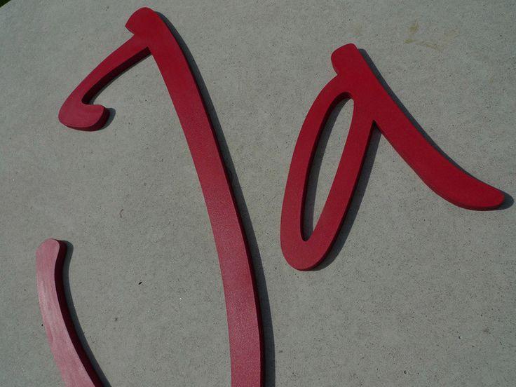 Schriftzüge ★ Buchstaben  ★ Unikate von PAULSBECK Buchstaben, Dekoration & Geschenke auf DaWanda.com