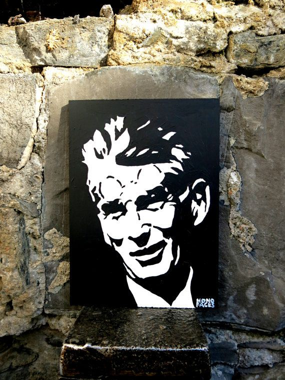 Hand painted acrylic piece of art of Samuel Beckett. by MONOFACES, €14.00