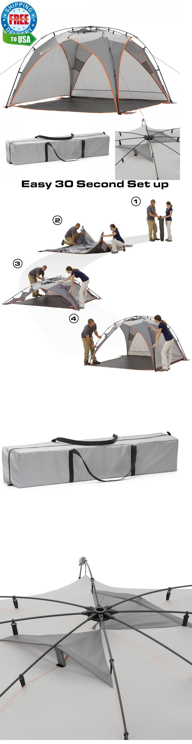 Canopies and Shelters 179011: Screen House Outdoor Canopy Shade Beach Gazebo Instant Pop Up Camping Tent 8 Ft -> BUY IT NOW ONLY: $74.58 on eBay!