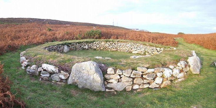 The Irish Mens Huts, Holyhead Mountain, Anglesey Gwynedd.