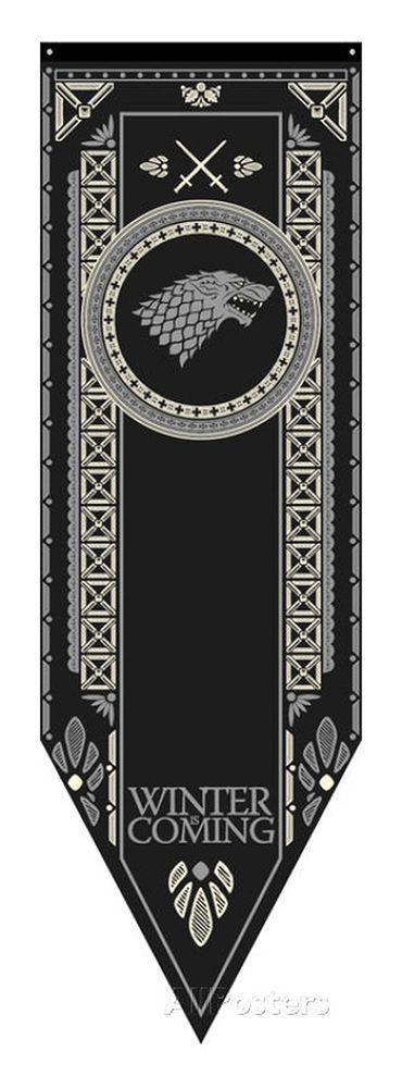 Game Of Thrones Stark Banner Perfect for any show lover. •A great gift and decoration for the home, office or dorm room. •100% Polyester, smooth and light. We apologize for any inconvenience that this may cause. | eBay!