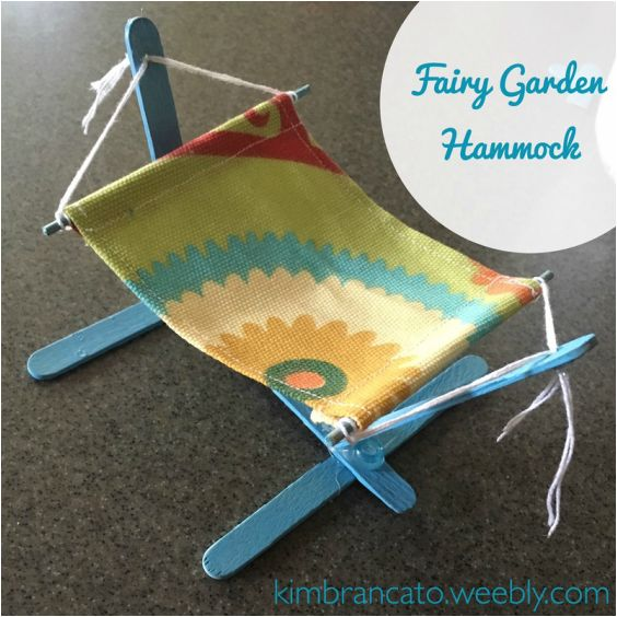 The perfect place for your tired fairies to kick back and relax! Easy to follow tutorial on how to make your own fairy garden hammock out of scraps :)