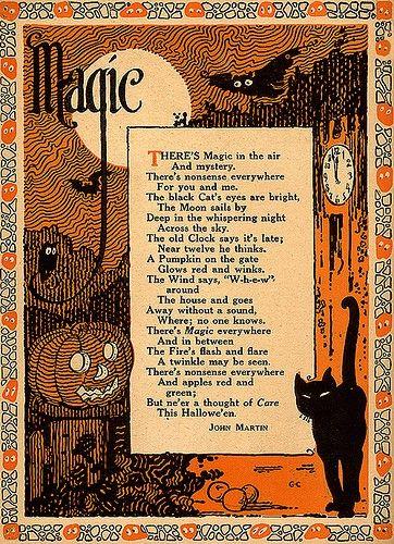Vintage Halloween poem! I've never seen one before!!