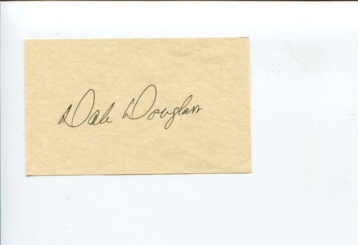 Dale Douglass PGA Golf Golfer Ryder Cup Colorado Buffaloes Signed Autograph