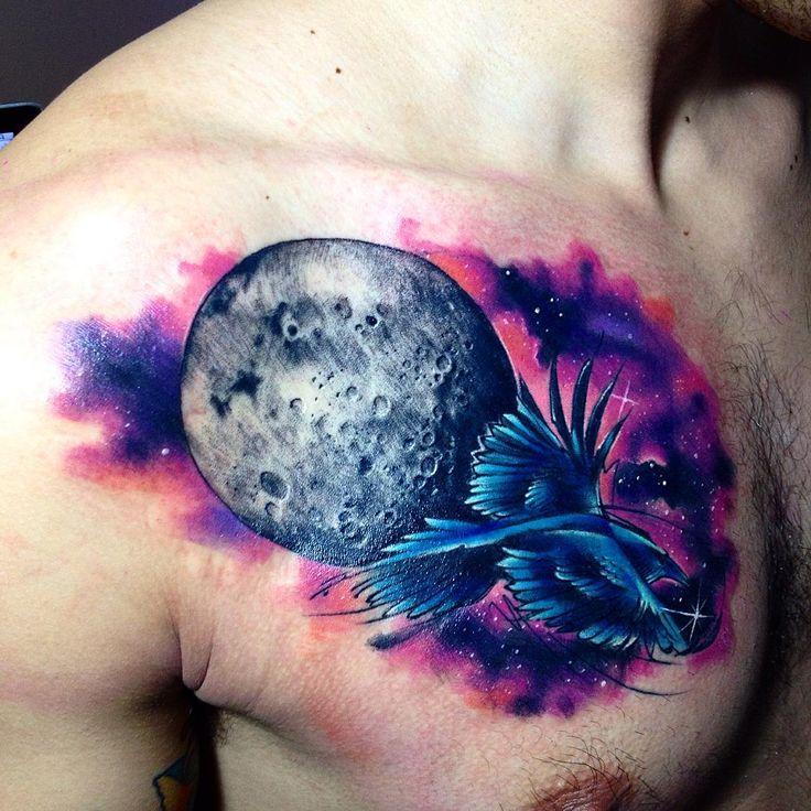 Tattoo artist Adrian Bascur watercolor space tattoo  | тату-мастер Adrian Bascur акварельные космические татуировки #inkppl #inkpplcom #inked #ink #inkedpeople #inktattoo #tattoo #tatts #tattooartist #tattooing #tattoos #tattooist #art #artist #tattooed #татуировка #тату #brighttattoo #colortattoo #spacetattoo #space #cosmos #watercolortattoo #акварель #watercolor #designtattoo #design