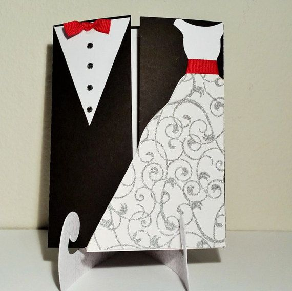 Wedding Invitation / Tuxedo and Gown / by PhotoNPaperCreations