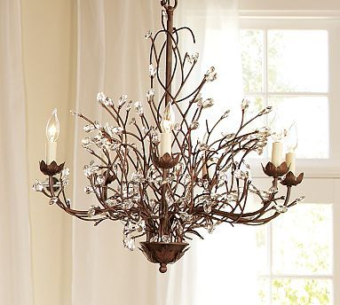 chandelier.: Camilla Chandelier, Rooms Chandeliers, Thrifty Decoration, Lighting Fixtures, Dining Rooms Tables, Homes, Branches, Dining Tables, Pottery Barns