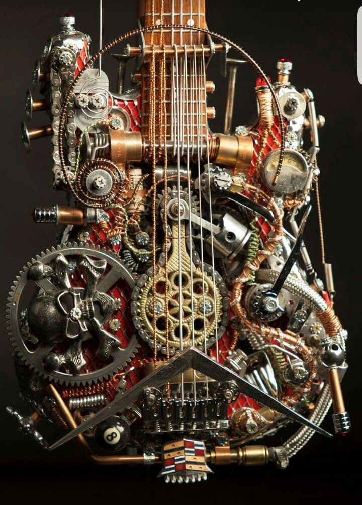 25 best ideas about steampunk guitar on pinterest instruments electric guitars and custom. Black Bedroom Furniture Sets. Home Design Ideas