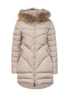 Куртка утепленная, Z-Design, цвет: бежевый. Артикул: ZD002EWNIY92. Женская одежда / Верхняя одежда / Пуховики и зимние куртки