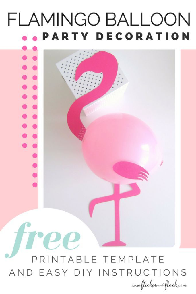 time to flamingle with this diy flamingo party balloon free