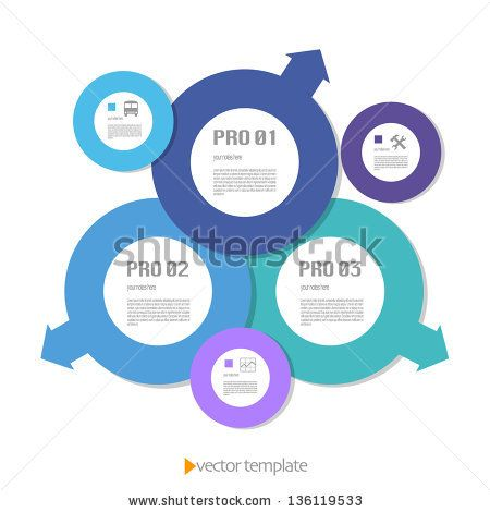 Colored vector template for business and web - stock vector