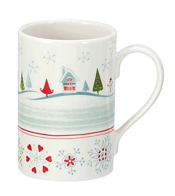 PORTMEIRION CHRISTMAS WISH Village Mug