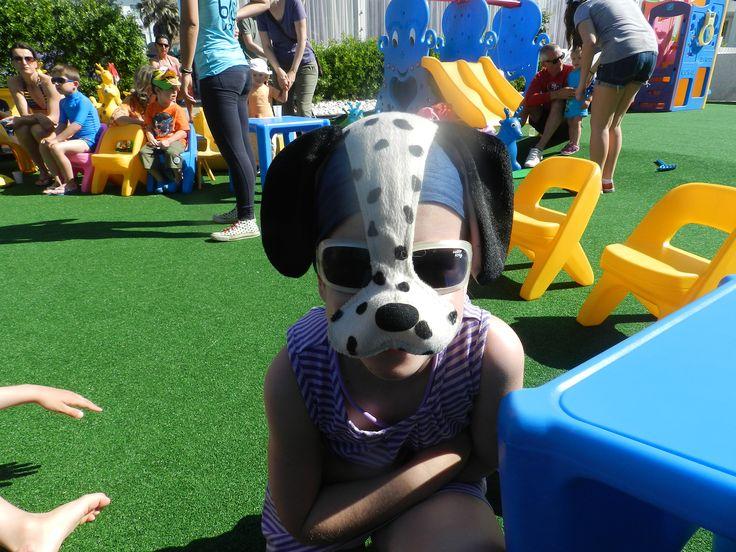 Al Blu Suite ci sono le mascherine anche d'estate! Non è carinissimo questo piccolo dalmata?