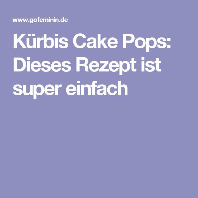 Kürbis Cake Pops: Dieses Rezept ist super einfach