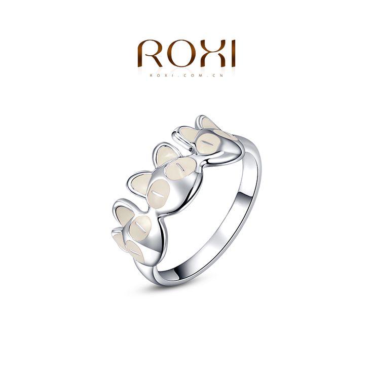 Roxi 2014 Chirstmas подарок покрынная платина симпатичные кошка кольцо себе мода романтический ювелирные изделия для женщин ну вечеринку свадьба лучший подарок, принадлежащий категории Кольца и относящийся к Ювелирные изделия на сайте AliExpress.com   Alibaba Group