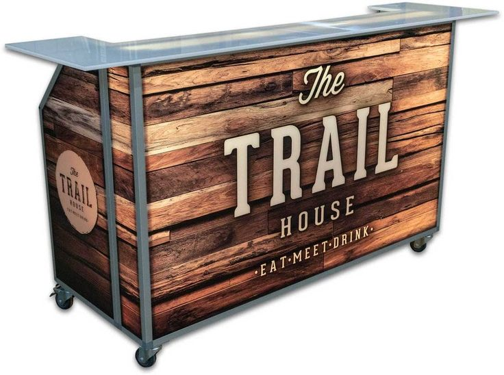 Led Lighted Portable Bar On Wheels For, Outdoor Bar On Wheels