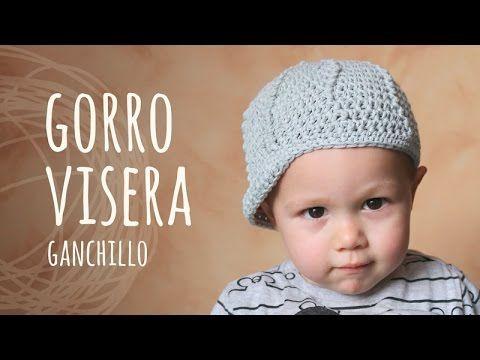 Tutorial Gorro o Boina Bebé Crochet o Ganchillo - YouTube