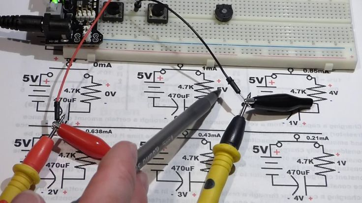 Basic electronics 6 capacitor circuit changing voltages RC time constant...