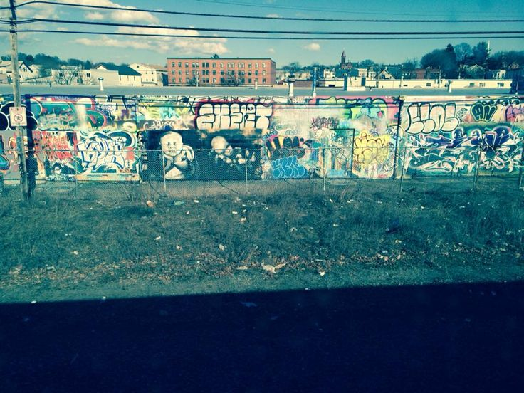 A view of the beverly free wall and one of my pieces from the train!