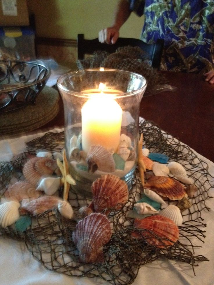 Beach theme centerpiece