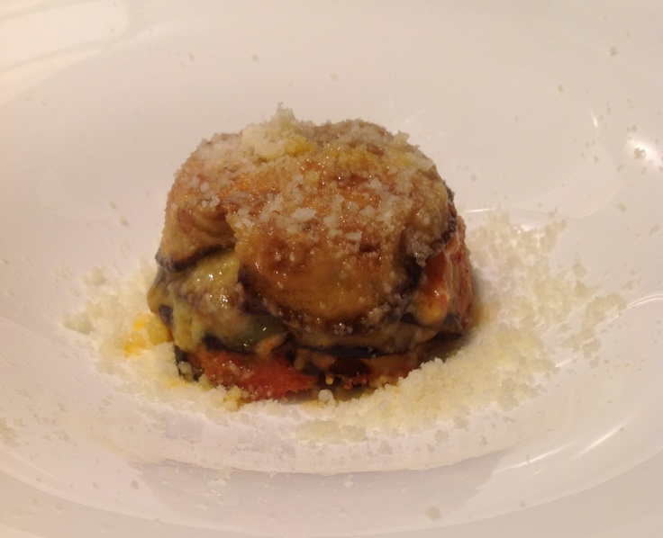 "Parmigiana di melanzane ""Grape"""