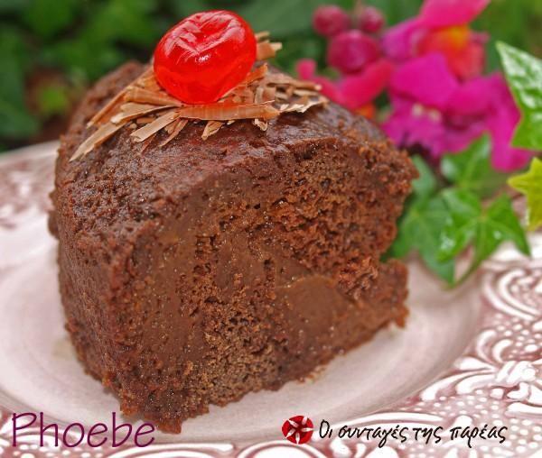 Κέικ σοκολάτας με σιρόπι - νηστίσιμο #sintagespareas